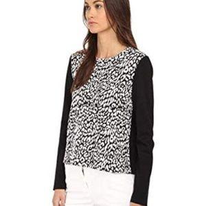 Kate Spade Black Leopard Print Top Be Darling